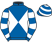 Silk colours for MILL GREEN, trained by Nicky Henderson and owned by Mrs Rita Brown