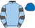 Silk colours for NOT SO SLEEPY, trained by Hughie Morrison and owned by Lady Blyth