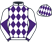Silk colours for LESLINGTAYLOR (IRE), trained by John Quinn and owned by Mrs Marie Taylor