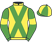 Silk colours for EI EI, trained by Michael Chapman and owned by Mrs S. M. Richards
