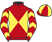 Silk colours for MASTER GEORGE, trained by I. A. Balding and owned by Mr David R. Watson & Mr Duncan Lofts