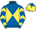 Silk colours for TIDOUR (FR), trained by Paul Webber and owned by Mrs M. Fisher