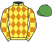 Silk colours for LORD SAM (IRE), trained by Victor Dartnall and owned by Plain Peeps