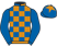 Silk colours for CERIUM (FR), trained by Paul Nicholls and owned by B Fulton, T Hayward, S Fisher, L Brady