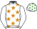 Silk colours for FRENCH ACCORDION (IRE), trained by Paul Nolan, Ireland and owned by Mr Padraig Brady