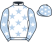 Silk colours for STAGECOACH PEARL, trained by Sue Smith and owned by John Conroy Jaqueline Conroy