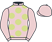 Silk colours for SHARJAH (FR), trained by W. P. Mullins, Ireland and owned by Mrs S. Ricci