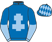 Silk colours for DONNA'S DIAMOND (IRE), trained by Chris Grant and owned by D&D Armstrong Ltd