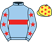 Light blue, red hoop, red stars on sleeves, yellow cap, red stars}