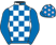 Silk colours for PAIROFBROWNEYES (IRE), trained by W. P. Mullins, Ireland and owned by Fibbage Syndicate