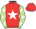 Silk colours for REDZOR (IRE), trained by Dan Skelton and owned by Bryan Drew & Steve Roper