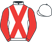 Silk colours for GEROLAMO CARDANO, trained by D. J. Jeffreys and owned by Mr Mark E. Smith