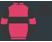 Cerise, black hoop and sleeves, cerise armbands, black cap}