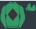 Lime green, black diamond, lime green sleeves and cap, black diamond}