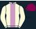 Cream, lilac stripe, cream sleeves, purple cap}