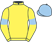 Silk colours for CORNERSTONE LAD, trained by Micky Hammond and owned by Mrs B. M. Lofthouse