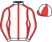 Silk colours for WHO DARES WINS (IRE), trained by Alan King and owned by HP Racing Who Dares Wins