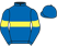 Silk colours for BERKSHIRE ROYAL, trained by W. P. Mullins, Ireland and owned by Andy Bell & Fergus Lyons