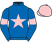 Silk colours for DINGO DOLLAR (IRE), trained by Alan King and owned by M Warren J Holmes R Kidner & J Wright