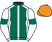 Silk colours for FLASH THE STEEL (IRE), trained by Dan Skelton and owned by Mr John J Reilly
