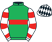 Silk colours for CHATHAM STREET LAD (IRE), trained by Michael Winters, Ireland and owned by Mr V. Healy