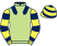 Silk colours for MIDNIGHTS' GIFT, trained by Alan King and owned by Pitchall Stud Partnership