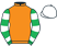 Silk colours for ABOLITIONIST (IRE), trained by Dr Richard Newland and owned by M Albon, J A Provan & C E Stedman