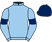 Silk colours for BALLYWOOD (FR), trained by Alan King and owned by Highclere Thoroughbred Racing -Ballywood
