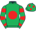 Silk colours for ORNUA (IRE), trained by Henry de Bromhead, Ireland and owned by John J Phelan/Syed Momin