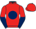 Silk colours for HOUBLON DES OBEAUX (FR), trained by Venetia Williams and owned by Exors of the Late Mrs J. Blackwell