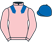 Silk colours for FINAL NUDGE (IRE), trained by David Dennis and owned by Corbett Stud & Andrew George