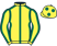 Silk colours for ATLANTA ABLAZE, trained by Henry Daly and owned by The Last Man Standing