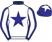White, dark blue star and collar, white sleeves, dark blue seams, cuffs and cap, white star}