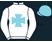 White, light blue maltese cross, white sleeves, light blue cap}