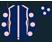 Dark blue, pink seams, dark blue sleeves, pink spots and cap}