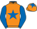 Silk colours for DE PLOTTING SHED (IRE), trained by Suzi Best and owned by Kelly, Beal and Vasey
