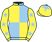 Yellow and light blue (quartered), yellow sleeves, light blue stars, yellow cap, light blue star}
