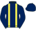 Silk colours for FIDDLERONTHEROOF (IRE), trained by Colin Tizzard and owned by Taylor, Burley & O'Dwyer