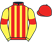 Silk colours for JARVEYS PLATE (IRE), trained by Fergal O'Brien and owned by The Yes No Wait Sorries & Mr Chris Coley