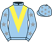 Silk colours for DIESEL D'ALLIER (FR), trained by Emmanuel Clayeux, France and owned by Mr Yves Maupoil