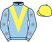 Silk colours for ARLEQUIN D'ALLIER (FR), trained by Emmanuel Clayeux, France and owned by Mr Yves Maupoil