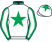 White, green star and collar, white sleeves, green seams and cuffs, white cap, green star}
