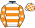Silk colours for ASPIRE TOWER (IRE), trained by Henry de Bromhead, Ireland and owned by Brendan McNeill/Jonathan Maloney