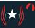 Black, white star, black and red striped sleeves, quartered cap}