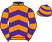 Silk colours for LORD SCHNITZEL (IRE), trained by Matthew J. Smith, Ireland and owned by Mr Klaus Koentopp