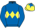 Silk colours for LA FELINE (FR), trained by Paul Nolan, Ireland and owned by Kilcommon Or Bust Syndicate