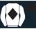 White, black diamond, white sleeves, black collar, cuffs and cap}