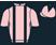 Pink, black braces, halved sleeves and diamond on cap}