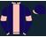 Navy blue, light pink stripe, armbands,collar and cuffs,navy blue cap,light pink peak}