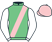 Green, pink sash and cap, white sleeves}
